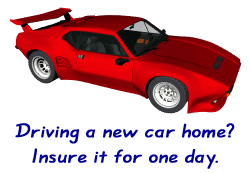 Use day insurance to drive a new car home